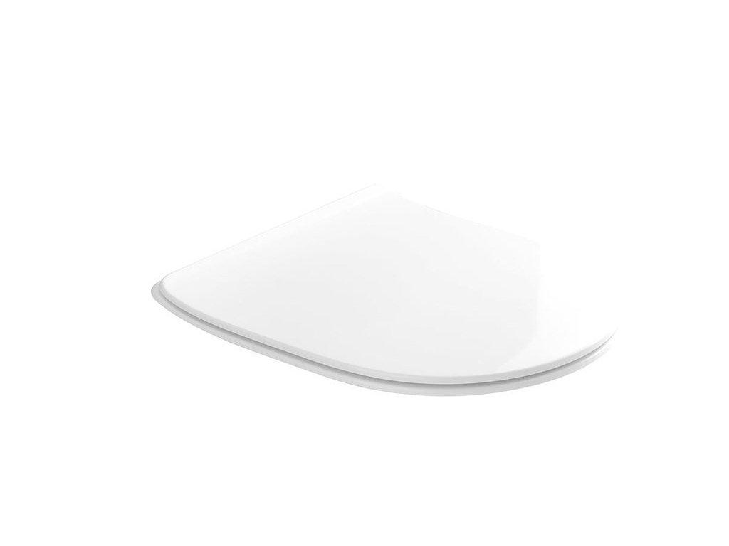 FLO WC sedátko SLIM Soft Close, duroplast, bílá
