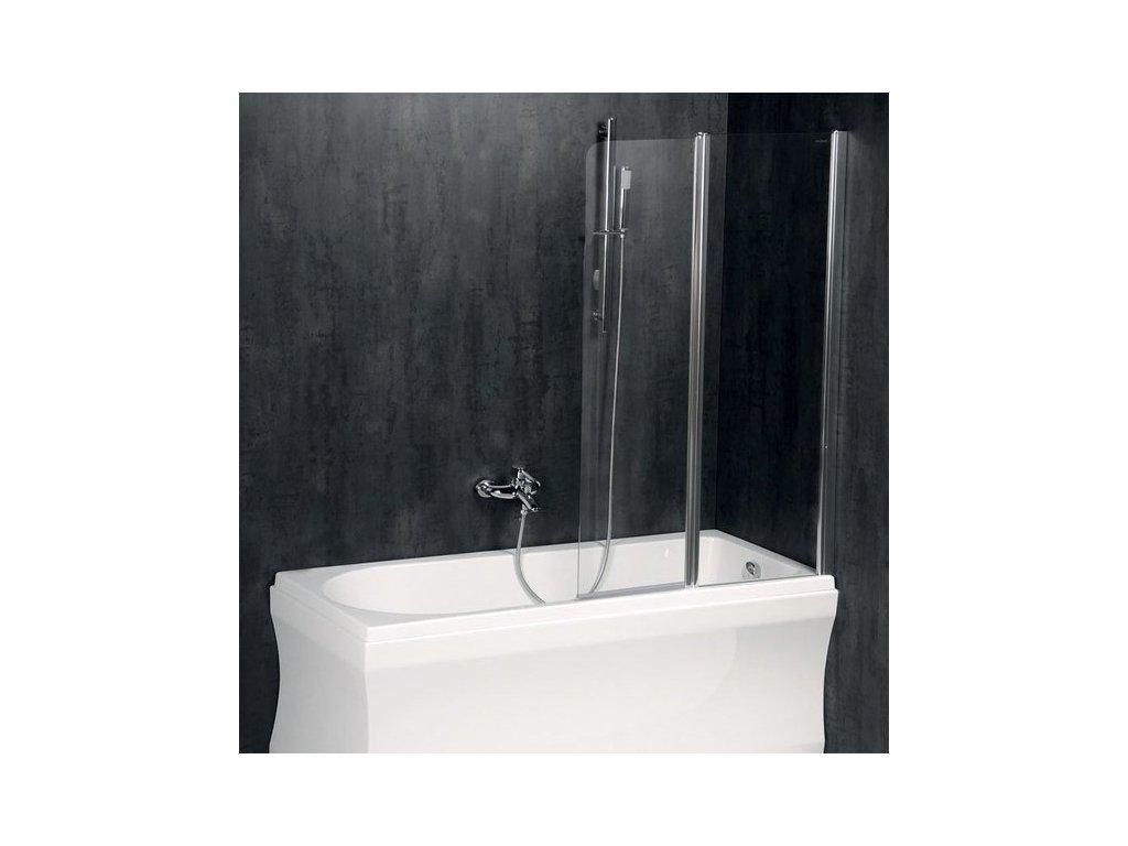 PALOMA vanová zástěna 1200mm, čiré sklo
