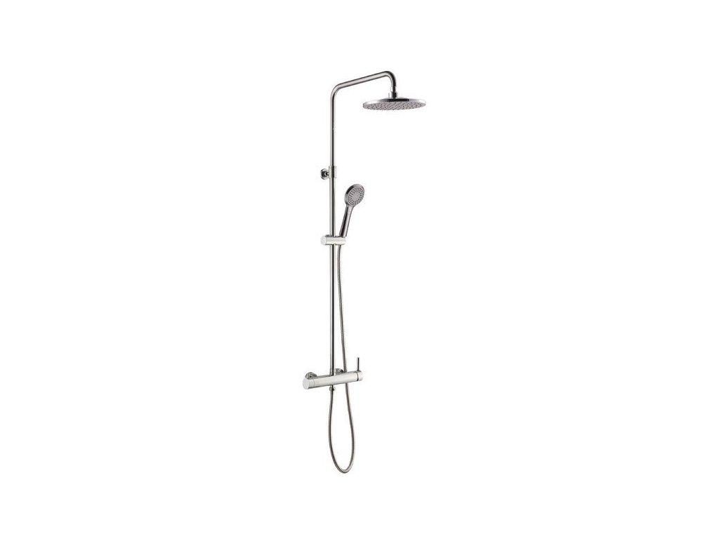 RHAPSODY sprchový sloup s pákovou baterií, kulatý, chrom