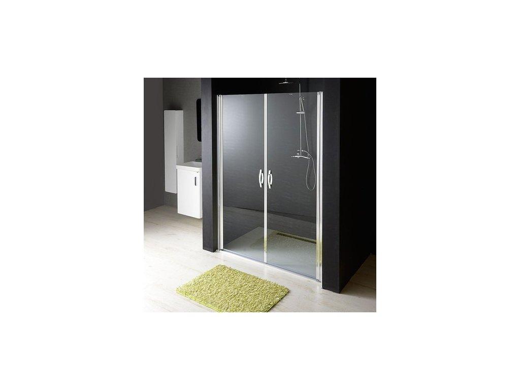 ONE sprchové dveře do niky dvoukřídlé 1080-1120 mm, čiré sklo, 6 mm