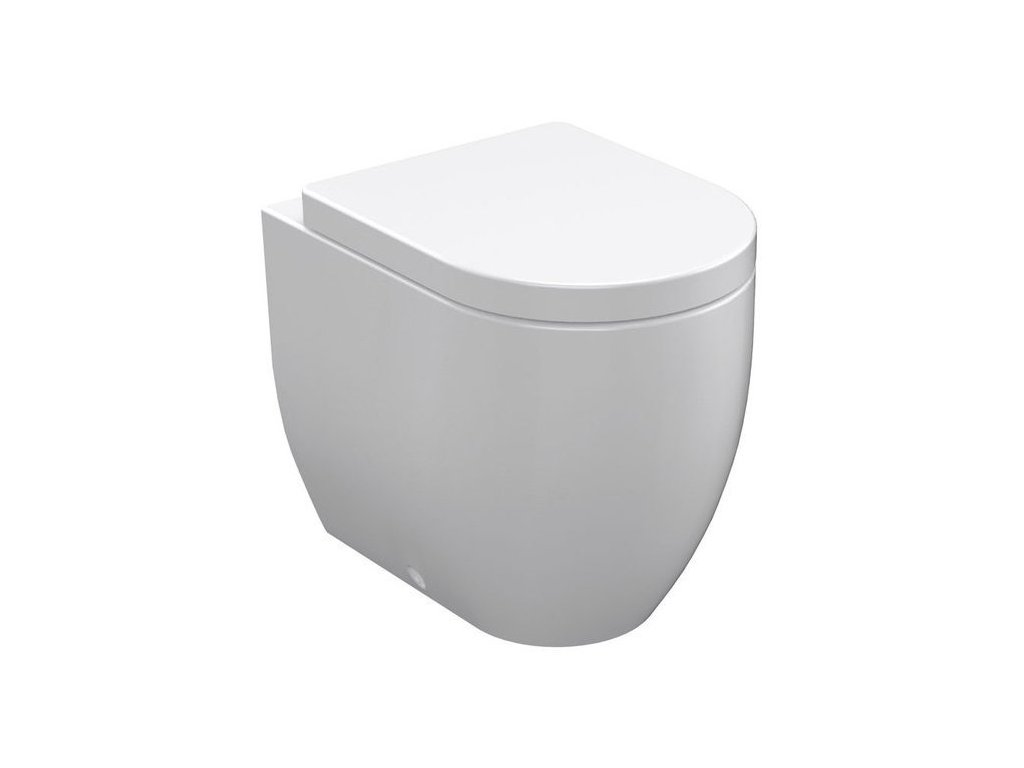 FLO WC mísa stojící, 36x42x51,5cm, spodní/zadní odpad