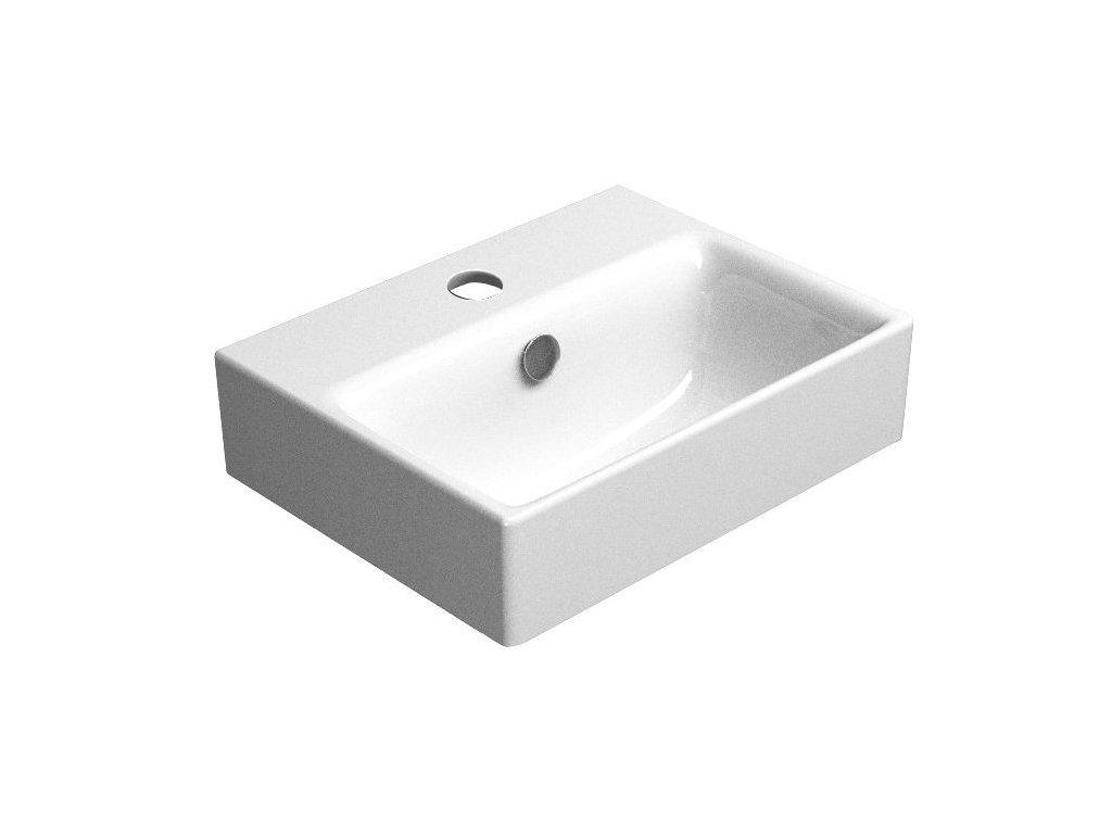 SAND keramické umyvadlo 40x32 cm, bílá ExtraGlaze