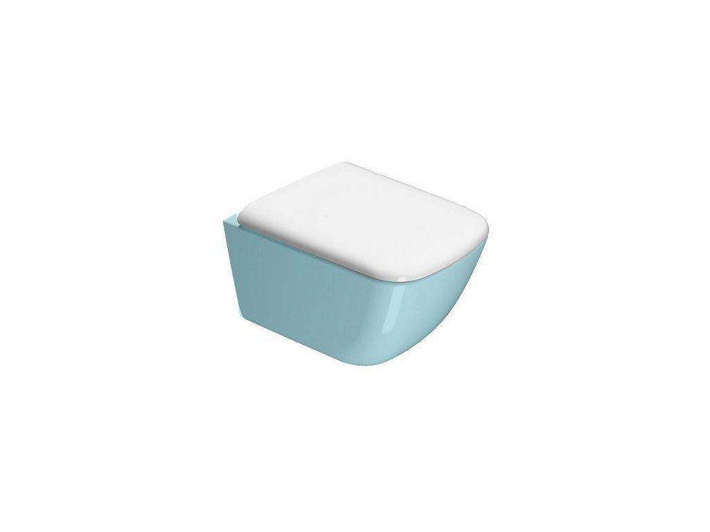 SAND WC sedátko, bílá/chrom