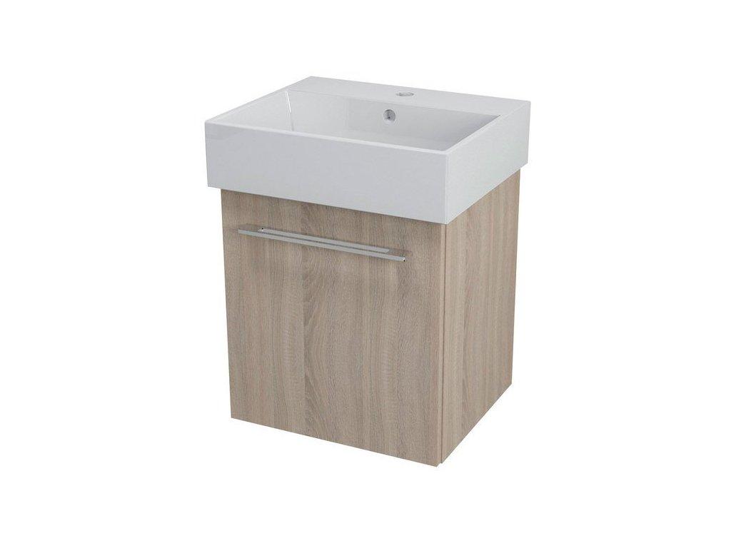 NATY umyvadlová skříňka 46,5x50x40cm, dub starmood