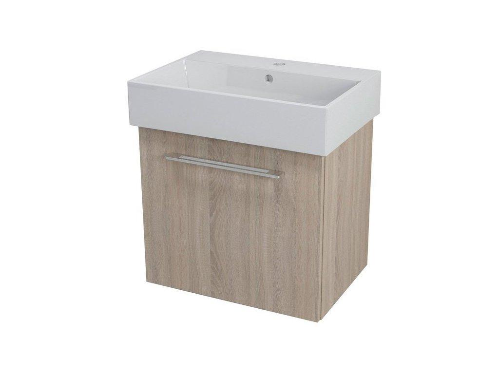 NATY umyvadlová skříňka 56,5x50x40cm, dub starmood