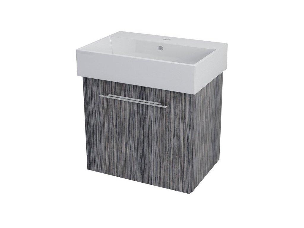 NATY umyvadlová skříňka 56,5x50x40cm, zebráno