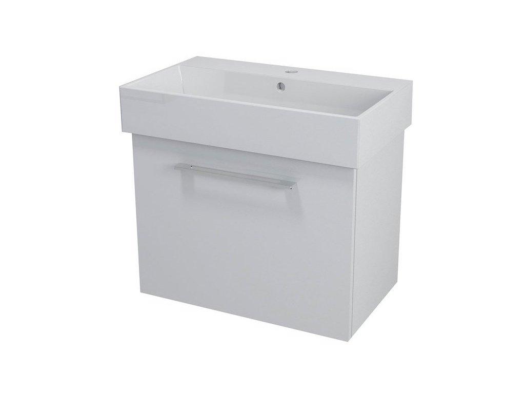 NATY umyvadlová skříňka 66,5x50x40cm, bílá