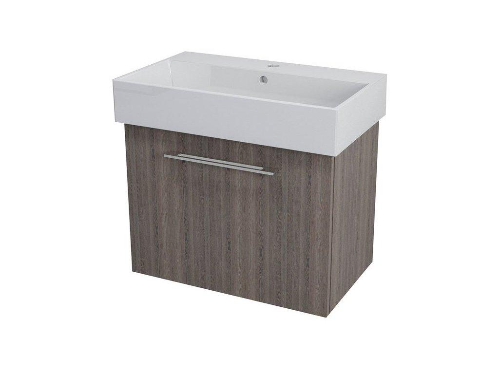 NATY umyvadlová skříňka 66,5x50x40cm,mali wenge