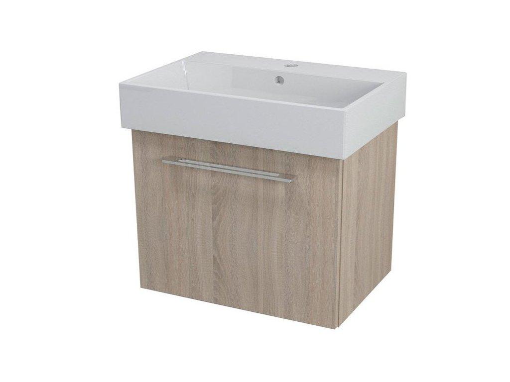 NATY umyvadlová skříňka 66,5x50x40cm, dub starmood