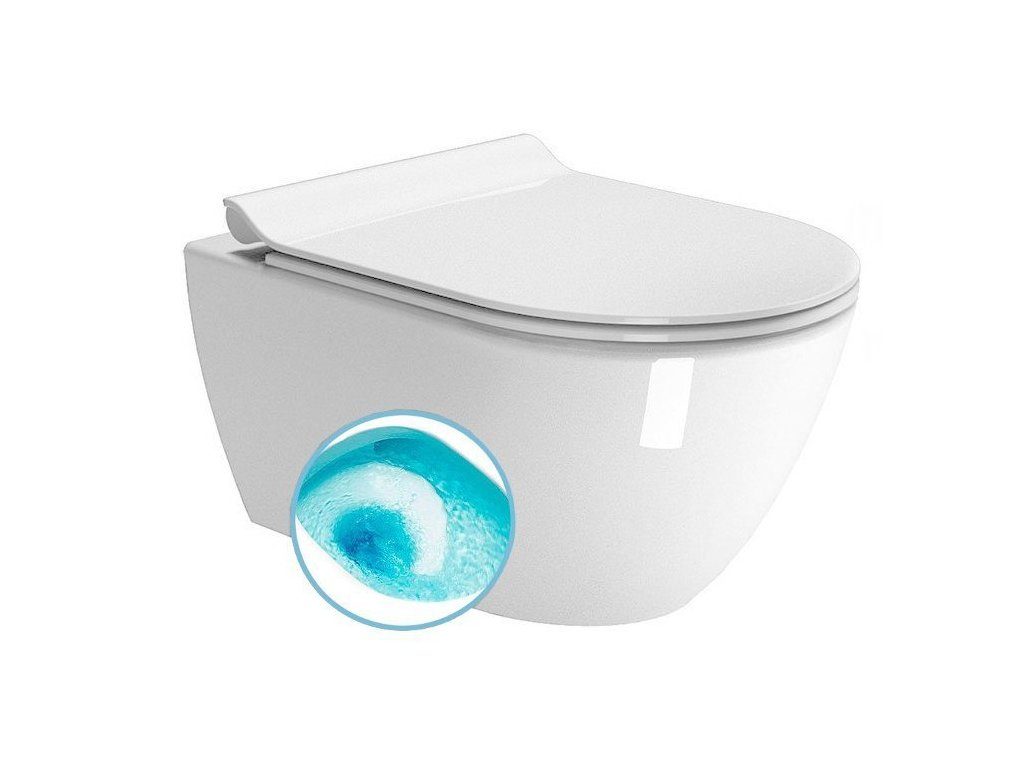 PURA závěsná WC mísa, Swirlflush, 55x36 cm, bílá ExtraGlaze