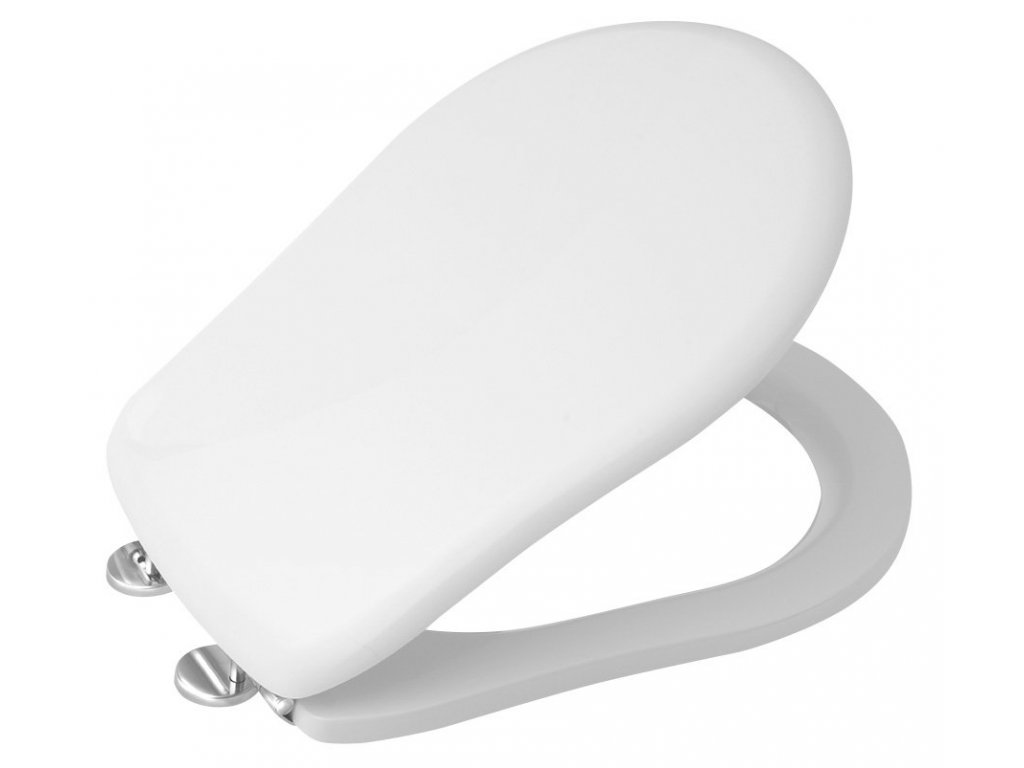 RETRO WC sedátko, polyester, bílá/chrom