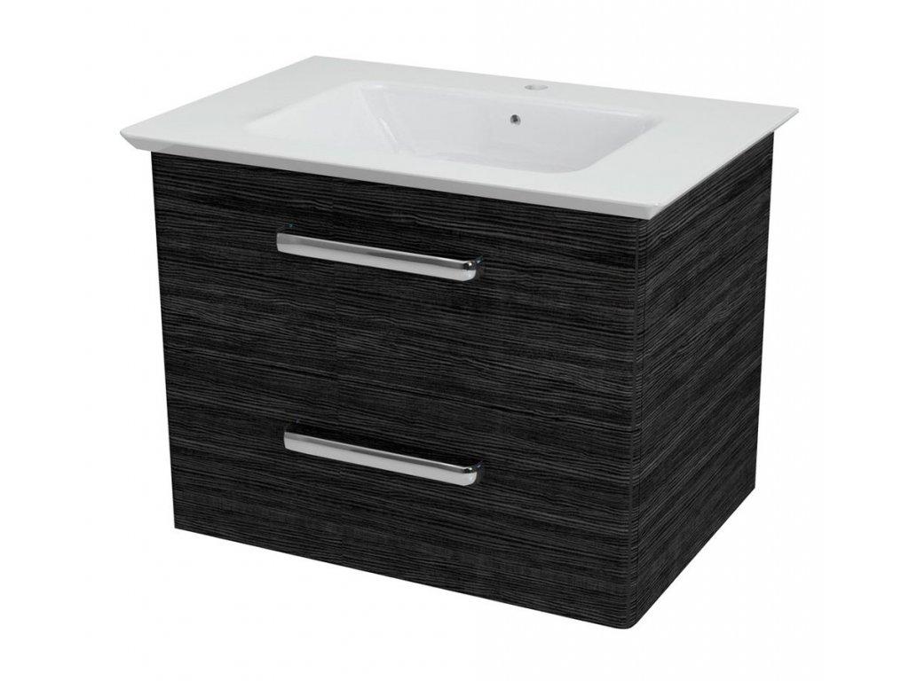 PURA umyvadlová skříňka 62,5x50,5x44cm, graphite line