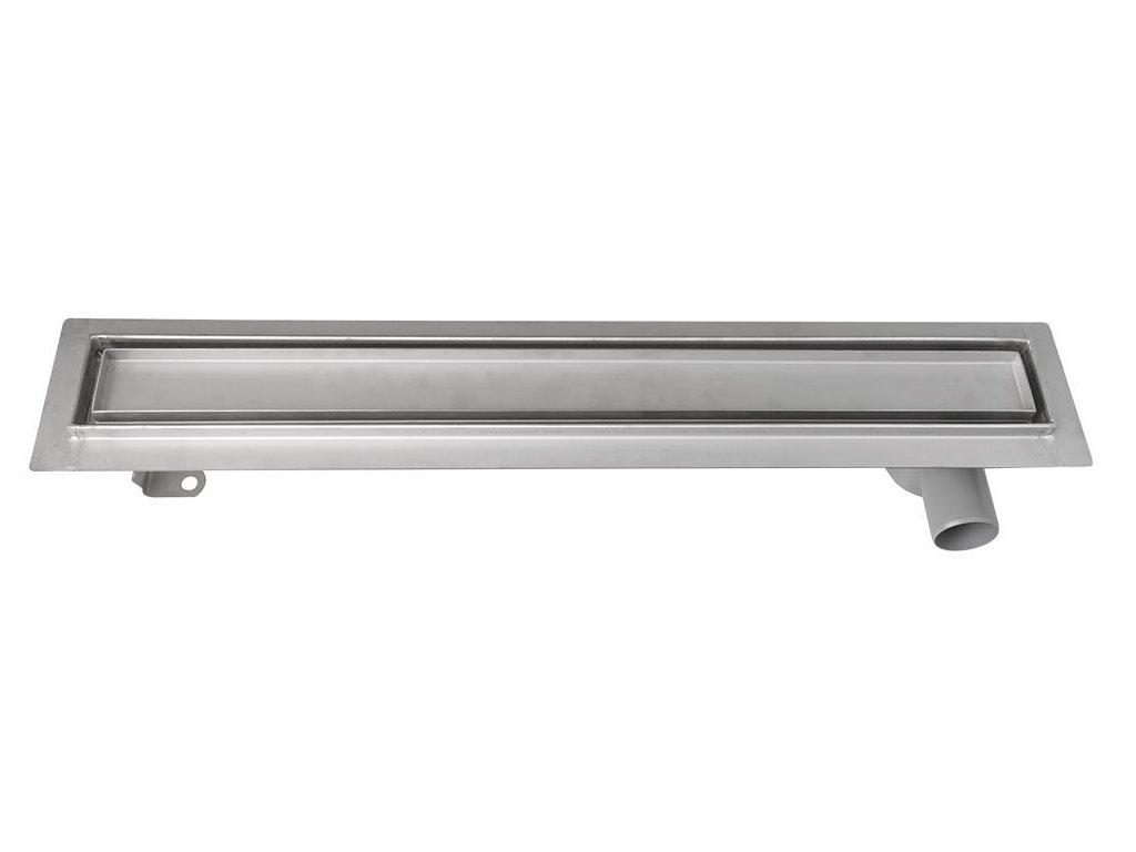 PAVINO Nerezový sprchový kanálek s roštem pro dlažbu, 860x140x92 mm