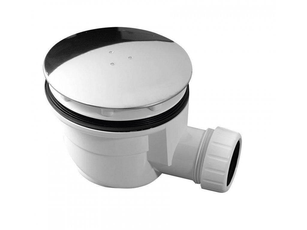 Vaničkový sifon, průměr otvoru 90 mm, DN40, krytka leštěný nerez