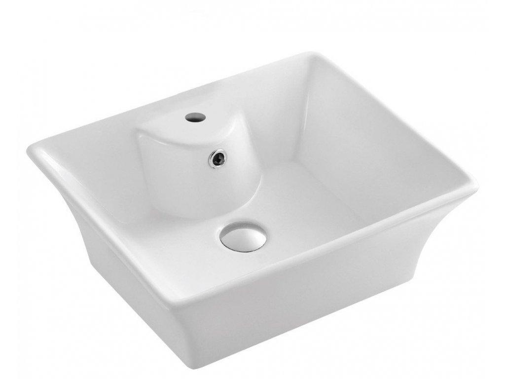 Keramické umyvadlo 49,5x41,5x19,5 cm, na desku