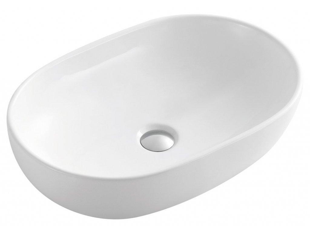 CALEO keramické umyvadlo 60x42x14 cm, na desku