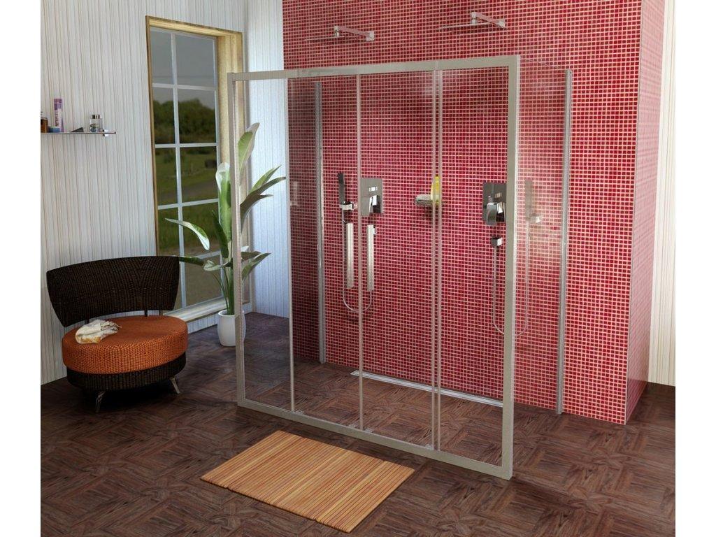 Lucis Line třístěnný sprchový kout 1500x700x700mm