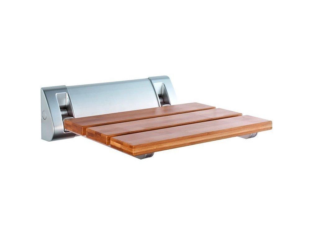 Sklopné sedátko do sprchového koutu 32x32,5cm, bambus