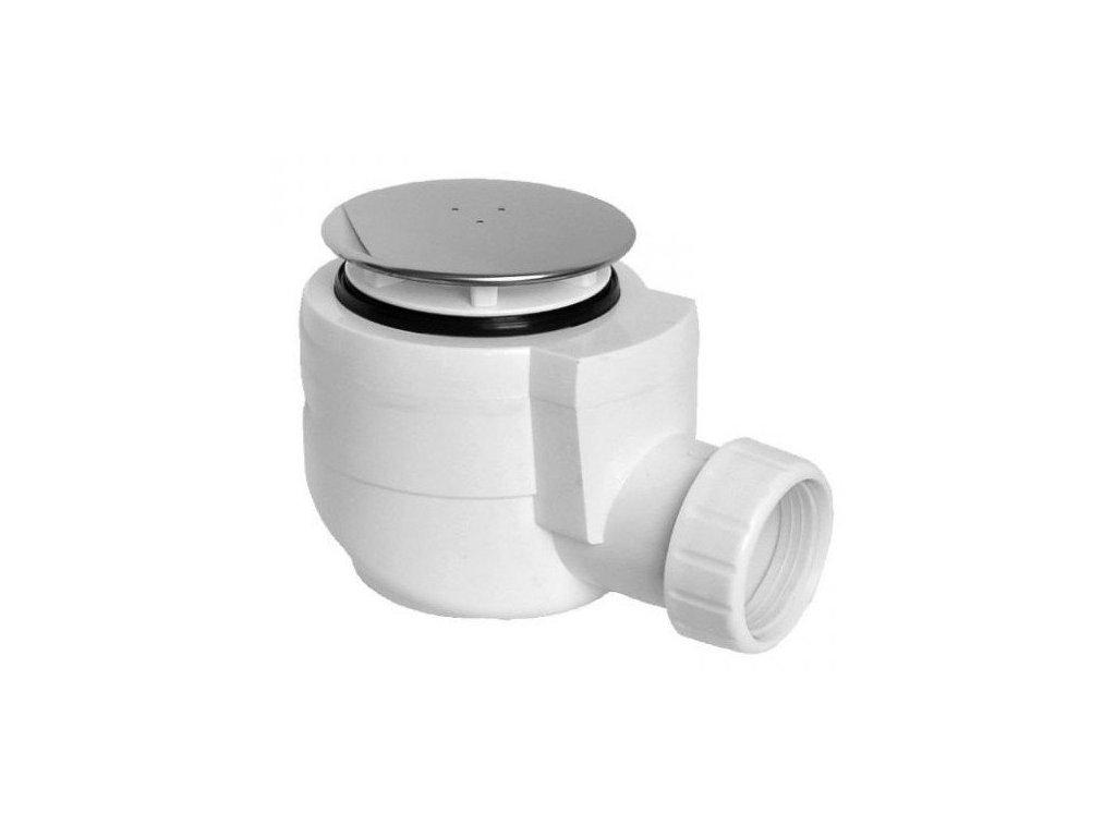 Vaničkový sifon, průměr otvoru 50 mm, DN40, krytka leštěná nerez