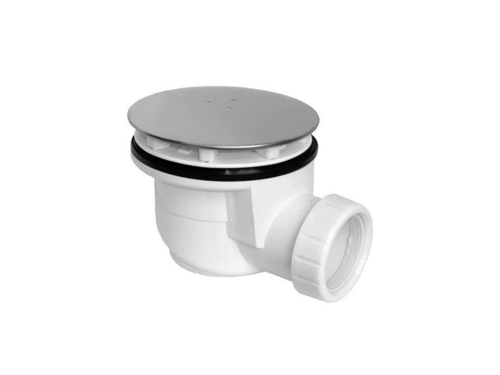 Vaničkový sifon, průměr otvoru 90 mm, DN50, krytka leštěná nerez