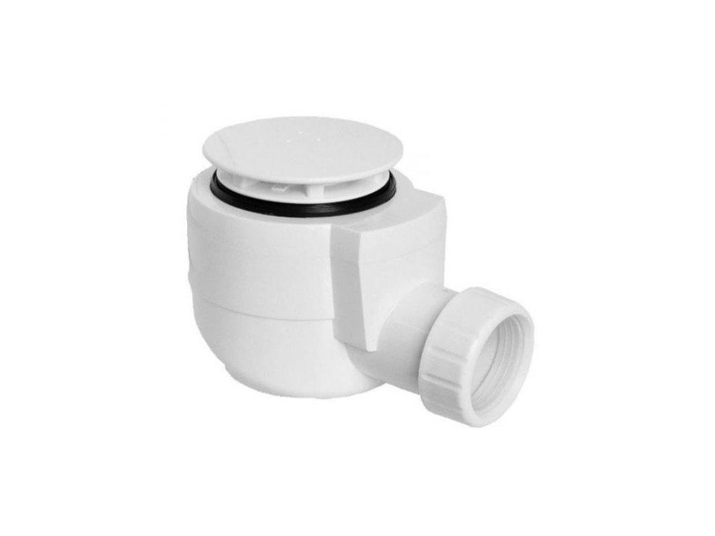 Vaničkový sifon, průměr otvoru 50 mm, DN40, krytka bílá