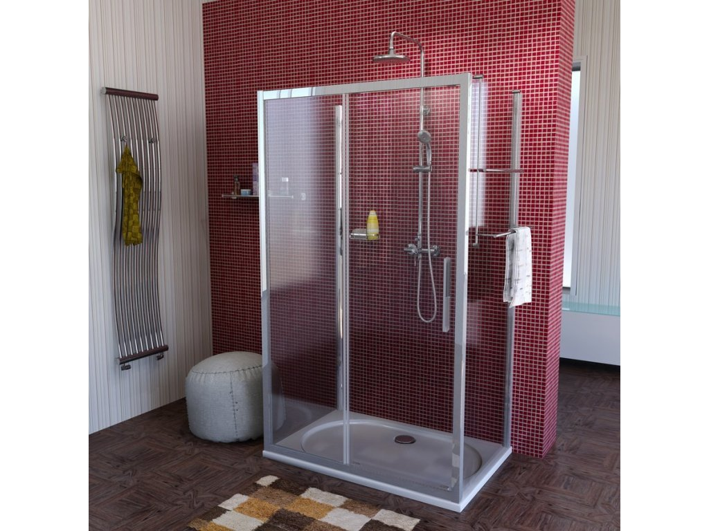 Lucis Line třístěnný sprchový kout 1300x900x900mm L/P varianta