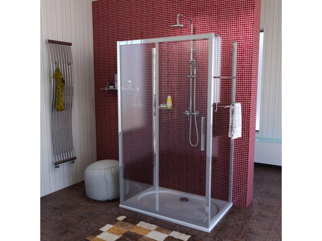 Lucis Line třístěnný sprchový kout 1400x700x700mm L/P varianta