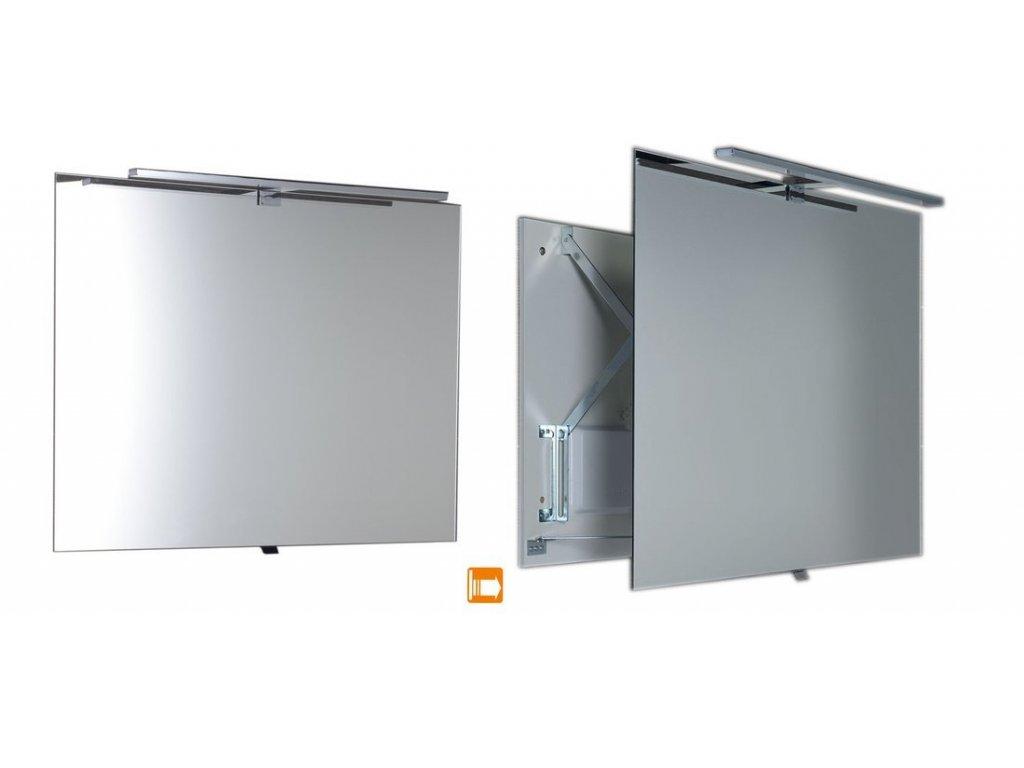 TIRA výsuvné zrcadlo s LED osvětlením 6W 600x800x54-356mm
