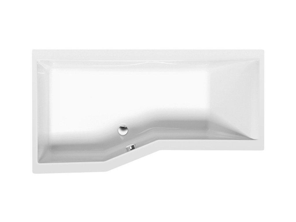 VERSYS L asymetrická vana 160x84x70x47cm, bílá
