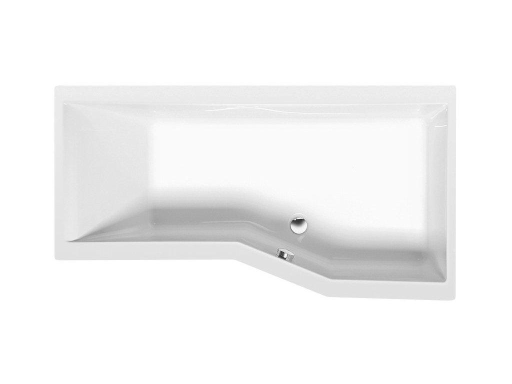 VERSYS R asymetrická vana 160x84x70x47cm, bílá