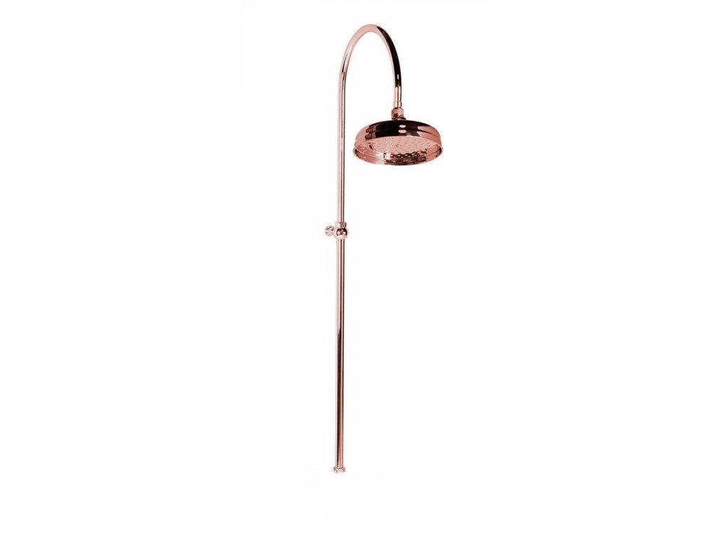 ANTEA sprchový sloup k napojení na baterii, hlavová sprcha, růžové zlato