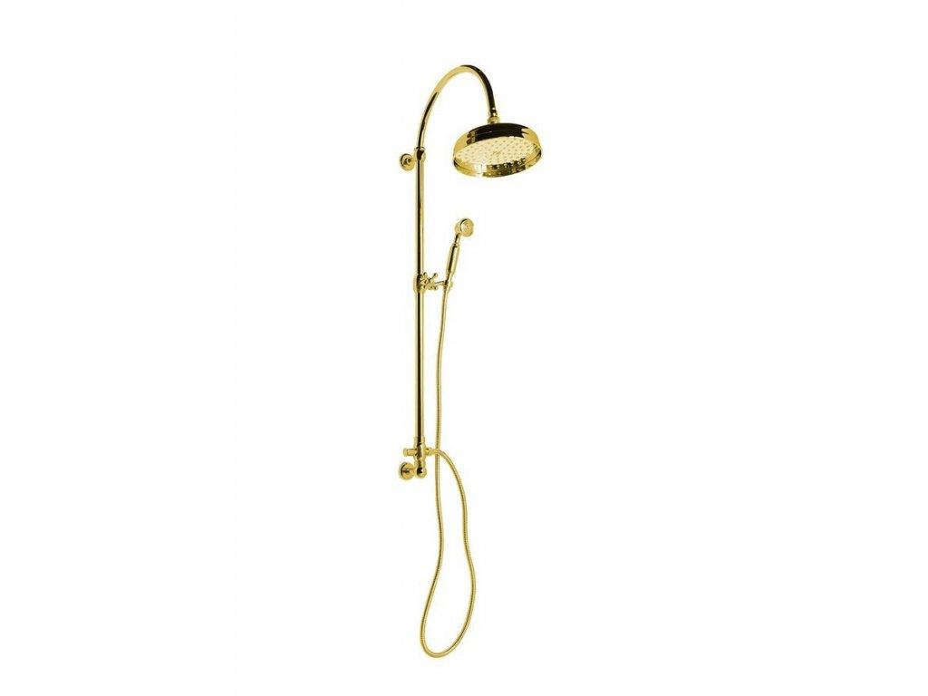 VANITY sprchový sloup s připojením vody ze zdi, retro, zlato