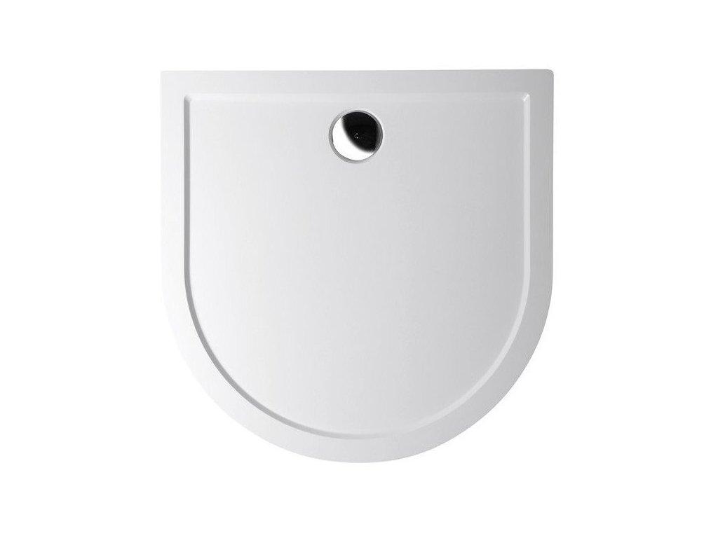 ISA 100 sprchová vanička z litého mramoru, půlkruh 100x100x4cm, bílá