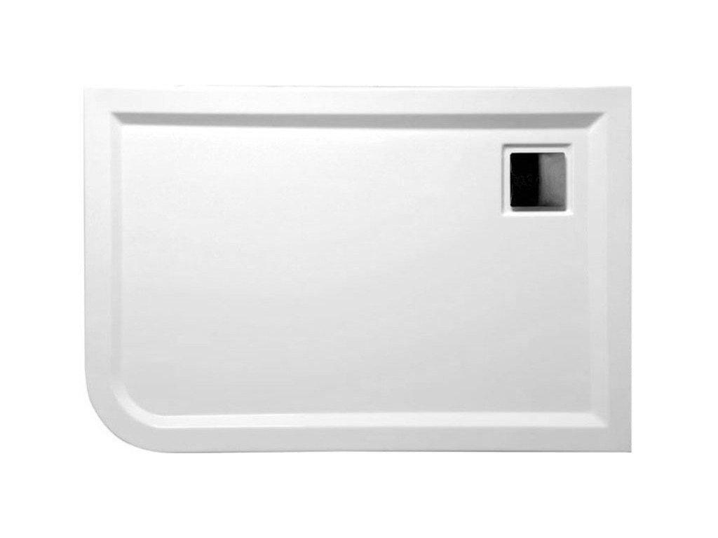 LUNETA sprchová vanička akrylátová, obdélník 120x80x4cm, levá, bílá