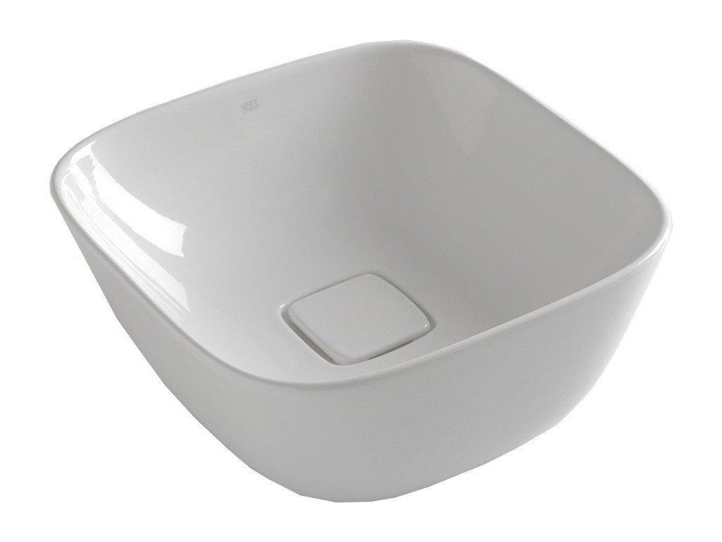 SOFT keramické umyvadlo 42,5x18,5x42,5 cm, na desku, bez přepadu