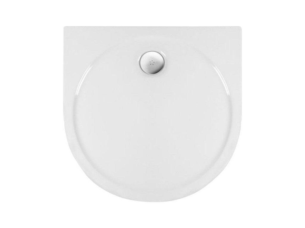 RIO sprchová vanička akrylátová, půlkruh 90x90cm, bílá