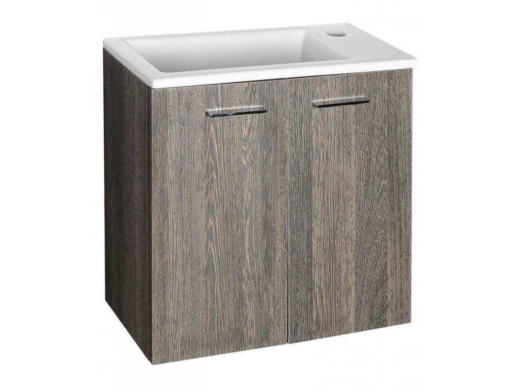 ZOJA/KERAMIA FRESH umyvadlová skříňka 49x50x23,5cm, dub platin