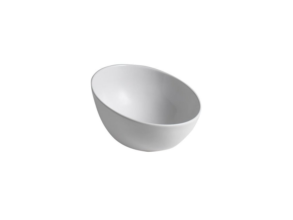 DOME OBLIQUO keramické umyvadlo 44,5x26,5(11,5)x44,5 cm, na desku, bez přepadu