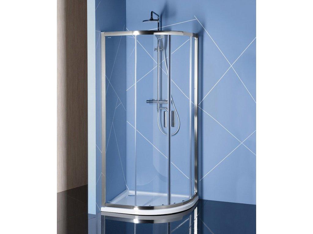 EASY LINE čtvrtkruhová sprchová zástěna 1000x800mm, L/R, čiré sklo