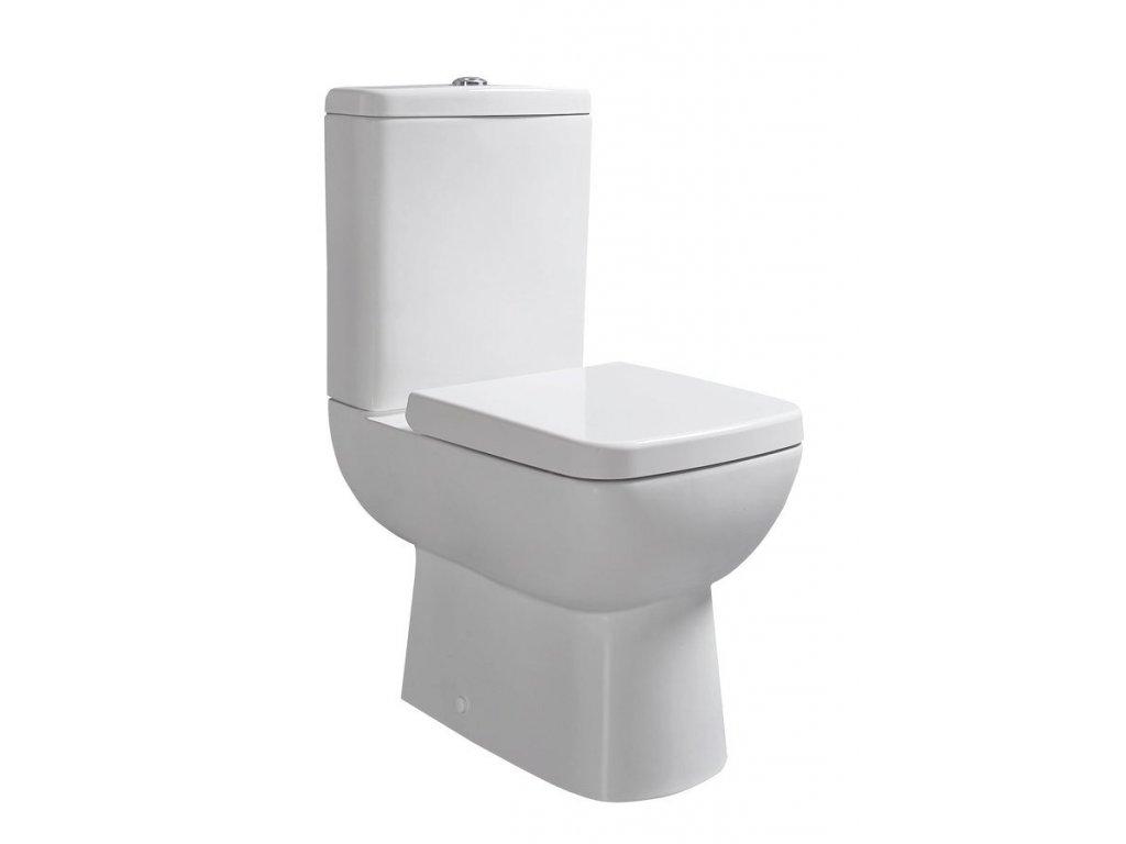 TYANA SHORT WC kombi krátké + sedátko, zadní odpad, bílá