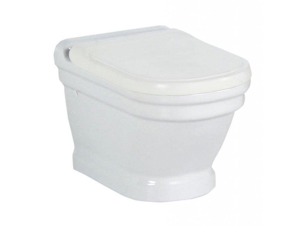 ANTIK závěsná WC mísa, 36x53 cm, bílá