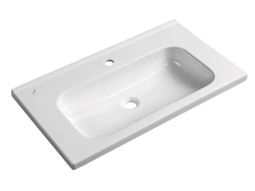 IDEAL keramické umyvadlo bez přepadu 80x45 cm