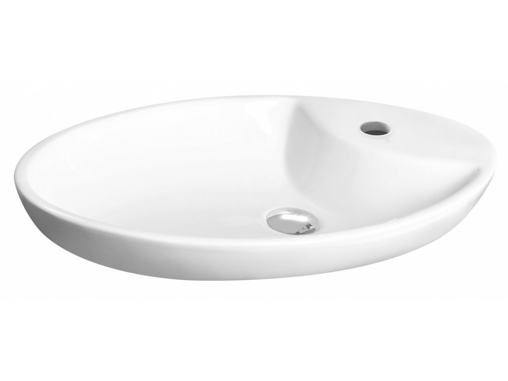 MINIMAL umyvadlo na desku oválné 64,5x40,5x12 cm