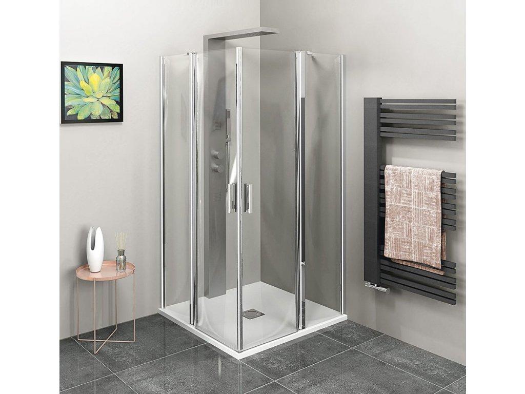 ZOOM LINE čtvercová sprchová zástěna 1000x1000mm, čiré sklo