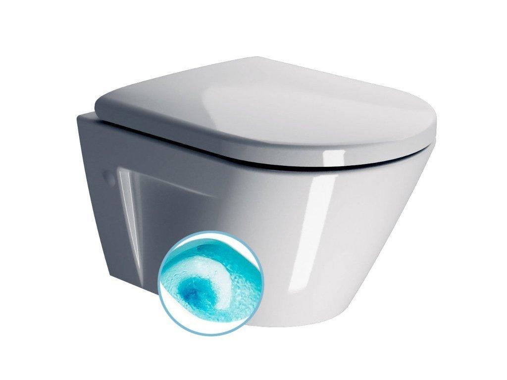 NORM závěsná WC mísa, Swirlflush, 50x36 cm, bílá ExtraGlaze