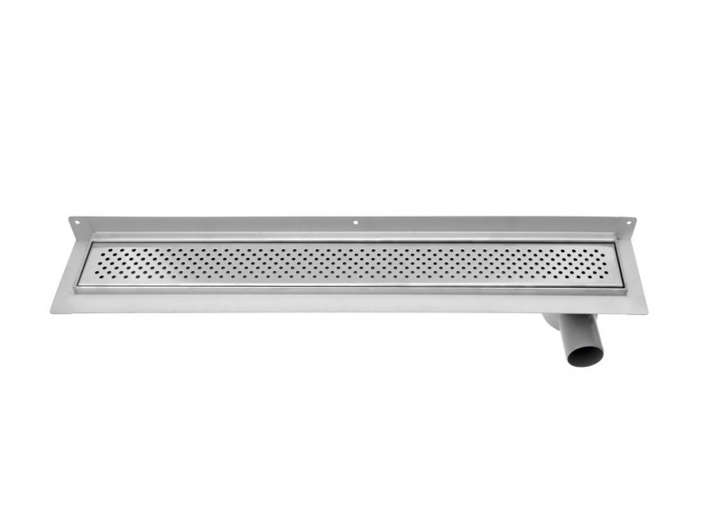 KROKUS nerezový sprchový kanálek s roštem, ke zdi, 960x122x92 mm