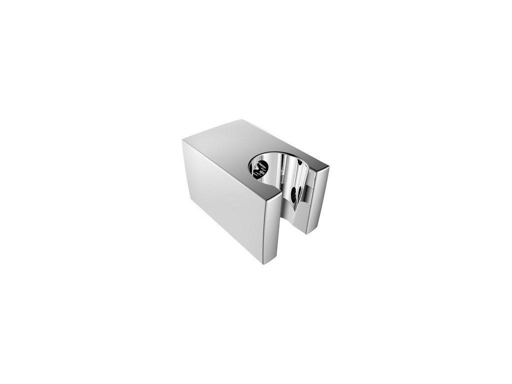 Pevný držák sprchy, hranatý, 57mm, ABS/chrom
