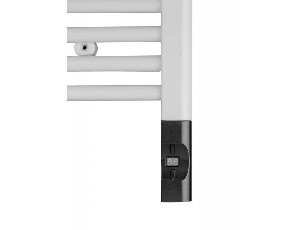 Elektrická topná tyč s termostatem a dálkovým ovládáním, 300 W, D-tvar, antracit