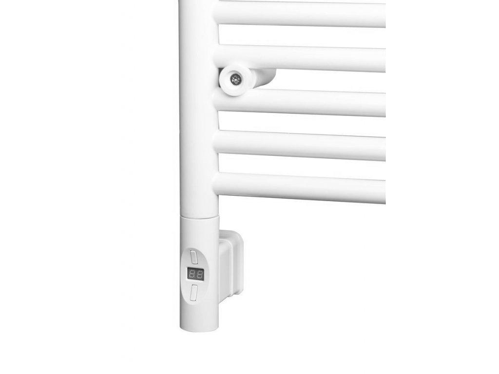 Elektrická topná tyč s termostatem a dálkovým ovládáním, 900 W, kulatá, bílá
