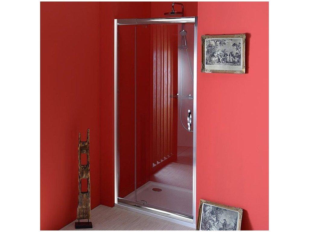 SIGMA sprchové dveře otočné 890-1030 mm, čiré sklo
